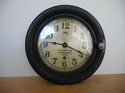 U. S. Maritime Commission 13826 Seth Thomas Clock - Made In Usa