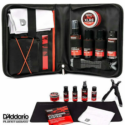 Planet Waves Guitar Instrument Care Pack Polish Cleaner Cloth Mat PW-ECK-01