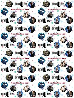Doctor Who Personalised Christmas Wrapping Paper ADD NAME/S CHOOSE BACKGROUND