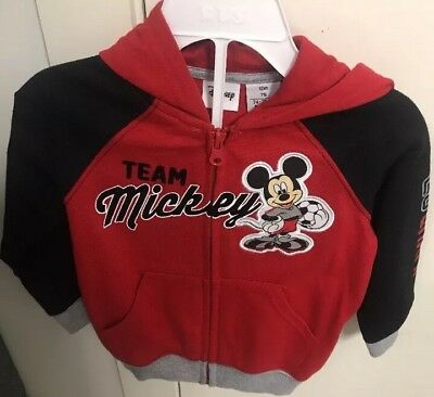 Toddler Kids Mickey Mouse Hoodie jacket- Size 12m Baby