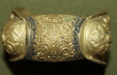 Antique Greek brass crusader fertility bracelet