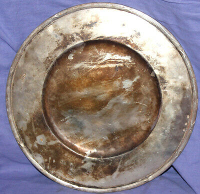 Vintage Italian silver plated serving plate tray platter