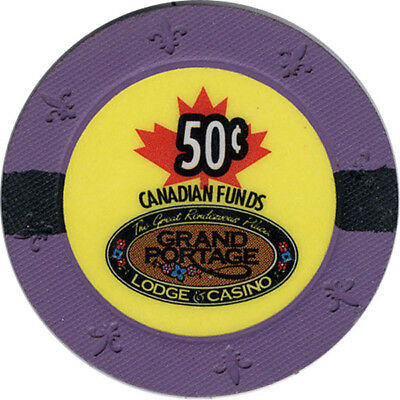 Grand Portage Casino - 50c Casino Chip (Canadian Funds)