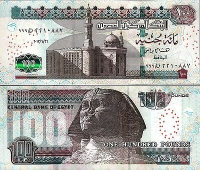 Egypt 100 Pounds 2013 Unc Prefix 999  P-67 Sign 22 Ramez