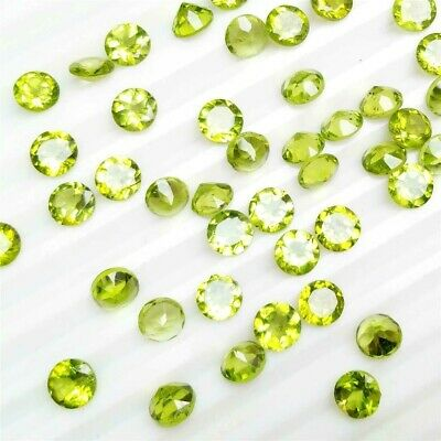 Wholesale Lot of 3.5mm to 7mm Round Faceted Peridot Loose Calibrated Gemstone