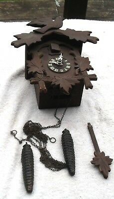 Small Vintage Cuckoo Clock Selling As Is For Parts Or Repair Good Shape Lqqk