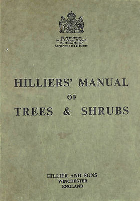 Hilliers' Manual of Trees & Shrubs by No Author.