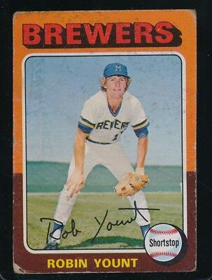 1975 Topps  Robin Yount  Fair/ Good  Brewers  #223  Rookie Card, Creased