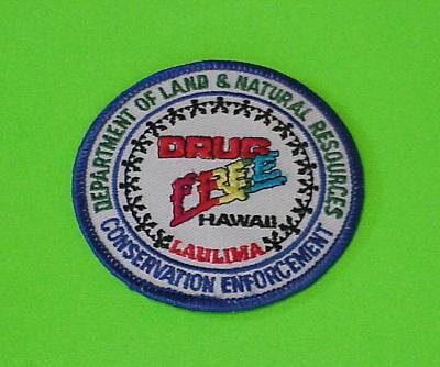 Laulima  Hawaii  Drug Free  Conservation   Police Patch   Free Shipping!!!