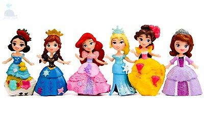Disney Cartoon Movie Princess Mini Dolls Resin Character Figures Toy Miniature