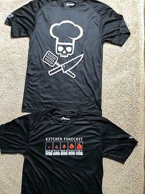 Happy Chefs Cook Cool Shirts~Lot Of 2~Size Medium~Euc!!