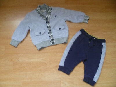 Baby Boys Designer HUGO BOSS & ROBERTO CAVALLI Outfit Joggers & Cardi 6-9 Months