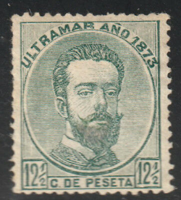 1873 Caribbean Stamps Sc 54 King Amadeo Puerto Rico Spain  NEW