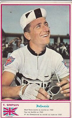 CYCLISME carte cycliste TOM SIMPSON éditions MIROIR SPRINT