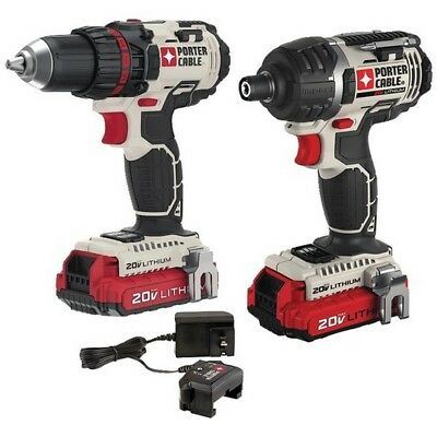 Porter-Cable PCCK602L2 Cordless Drill/Impact Driver w/ 2 LiIon 20V Max Batteries