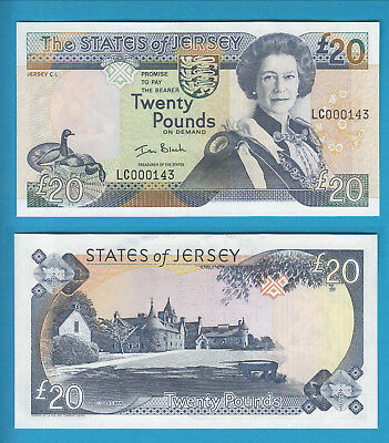 THE STATES OF JERSEY - 20 Pounds - 1993
