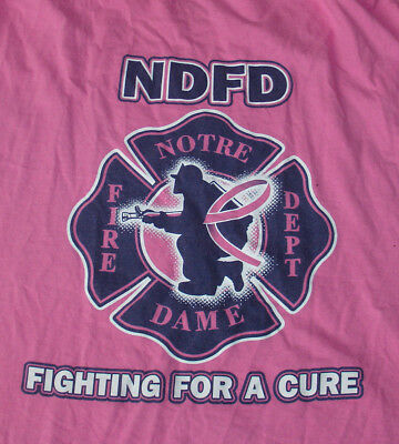 Notre Dame Fire Department Pink Fighting For Cure Extra Large Tee Shirt