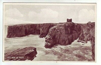 Old Man Of Wick Caithness Photo Taken 1891 Card Published 1944 Valentines 14275