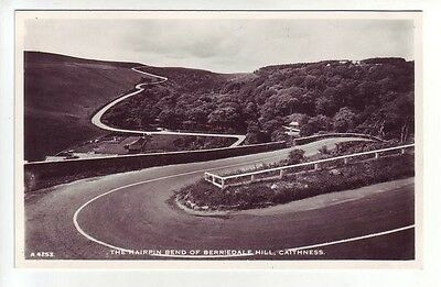 Hairpin Bend Of Berriedale Hill Caithness c1958 Real Photograph JB White A4253