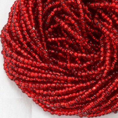 10/0 Silver Lined Red Czech Seed Bead (10 Gm, Hank, 1/2 Kilo) #CSC027
