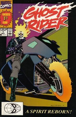 GHOST RIDER #1 VG, 1st DANNY KETCH GHOST RIDER, Marvel Comics 1990 Stock Image
