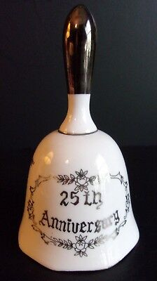 Porcelain 25th Anniversary Bell