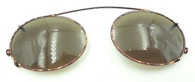 Vintage Brooks Brothers 104 1012 Tortoise Oval Clips Clip on Sunglasses Frames