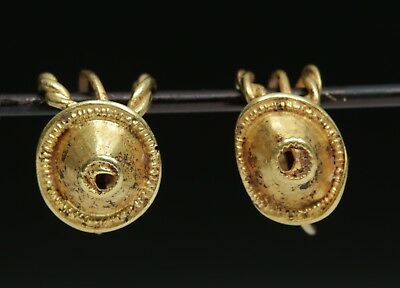 ARTEMIS GALLERY Ancient Roman 22K+ Gold Earrings (pr)
