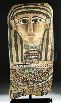 ARTEMIS GALLERY Egyptian Painted Gesso & Wood Mummy Mask