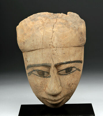 ARTEMIS GALLERY Egyptian Wood Sarcophagus Mask - 2600+ years old