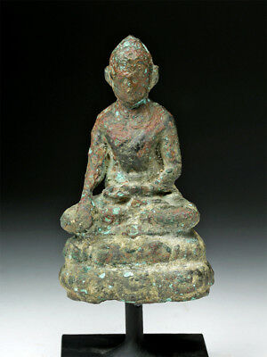 ARTEMIS GALLERY Khmer Bronze Statue of the Seated Buddha