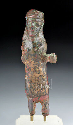 ARTEMIS GALLERY Rare Nabataean Bronze Female Votive Figurine