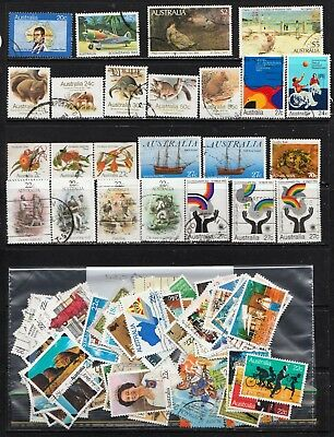 1979 To 1983 100 Australian Stamps  All Different  Used
