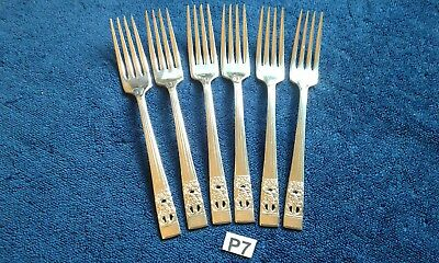 "VINTAGE DINNER FORKS ""HAMPTON COURT""  or CORONATION COMMUNITY PLATE  7 1/4"""
