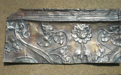 SALE Antique Victorian Ceiling Tin Tile Sunflower Leaves Amaryllis Cottage Chic