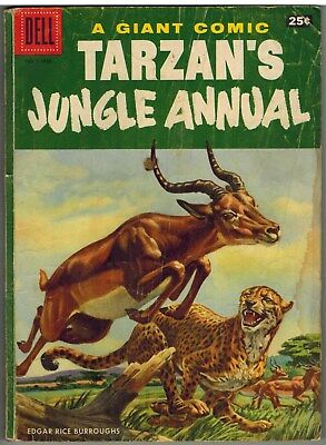 Tarzan's Jungle Annual Dell Giant #5 1956 100 Pages Early Silver Age!