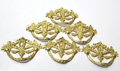 Antique French Brass Ormolu Ornament Furniture Hardware Drawer Pulls