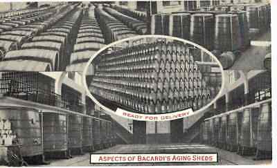 Old Postcard Bacardi's Aging Sheds Ready For Delivery Cuba 1935