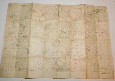 May 1918 WW1 Map of Trenches in France Edition 5b Sheet 57d S.E.
