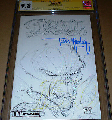 Spawn #150 Sketch Variant CGC SS 9.8 SIGNED Todd McFarlane Image 2005 New Movie