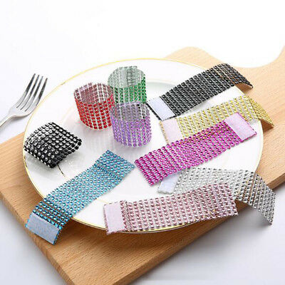 Diamond Napkin Rings for Wedding Table Napkin Strass Sashes Banquet Chair Dining