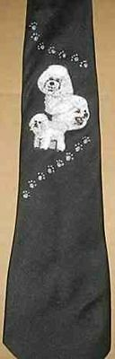Mens Necktie BICHON FRISE Dog Breed Mens Accessory Polyester Tie
