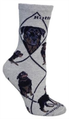 Adult Size Medium ROTTWEILER Adult Socks/Grey Made in USA