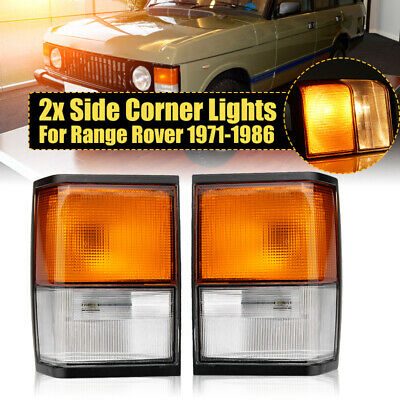 For Range Rover Classic Front Left+Right Complete Indicator Lamp Assembly 71-86