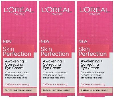 3 x 15ml LOreal Paris Skin Perfection Awakening + Correcting Eye Cream