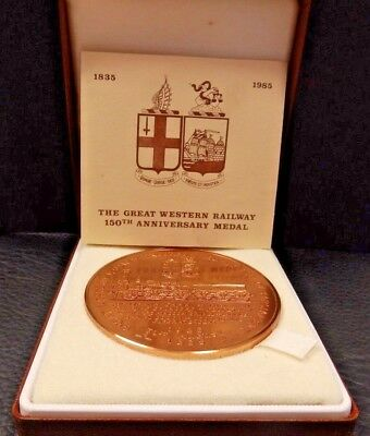"""Great Western Railway Medal 150 years 1835 - 1985  """"Firefly"""" Royal Mint Box Cert"""