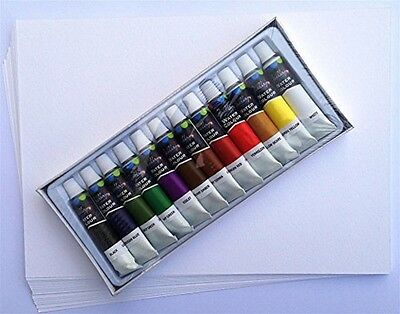 Water Colour Painting Starter Kit 20 Sheet Paper Pack With Paints And Brushes