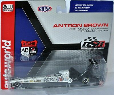NHRA TOP FUEL DRAGSTER 2017 * MATCO TOOLS * Antron Brown - 1:64 AutoWorld