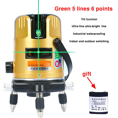 5Line 6Point Automatic Self Leveling Green Laser Level Rotary Measure Auto