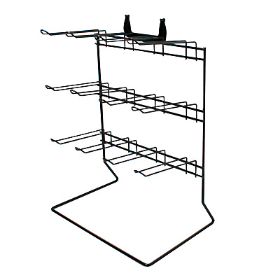 12 Hook Black Counter Top Retail Shop Display Stand (K9AB)